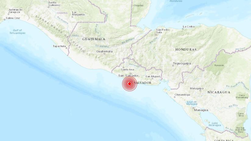 Fuerte sismo de magnitud 6,8 sacude El Salvador