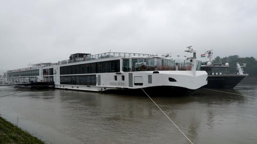 VIDEO: Momento exacto en el que un crucero golpea un barco turístico en Budapest