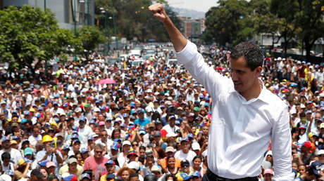 Juan Guaidó en Caracas, el 1 de mayo de 2019.