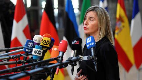 La alta representante de Exteriores de la UE, Federica Mogherini.