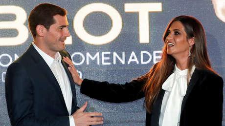 Iker Casillas y su esposa,  Sara Carbonero.