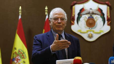 El Ministro español de Exteriores, Josep Borrell, en Amman (Jordania). 2 de mayo de 2019