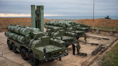 Un sistema antiaéreo S-400 en Sebastopol, Crimea (Rusia), 2018.