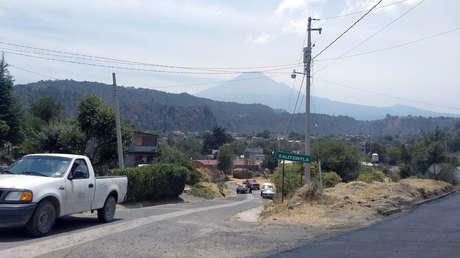 Vista del volcán Popocatépetl, en Santiago Xalitzintla, estado de Puebla.