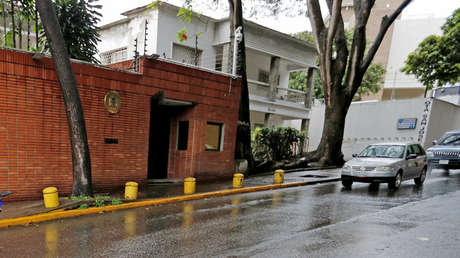 Sede de la Embajada española en Caracas, Venezuela. 3 de agosto de 2017.