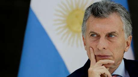 El presidente de Argentina, Mauricio Macri, durante un almuerzo en la casa gubernamental.
