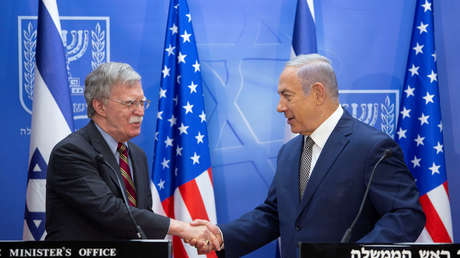 Benjamín Netanyahu y John Bolton en una reunión en Jerusalén, el 20 de agosto de 2018.