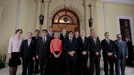 Miembros de Grupo Internacional de Contacto posan para la foto oficial,  San José, Costa Rica. 06 de mayo de 2019.