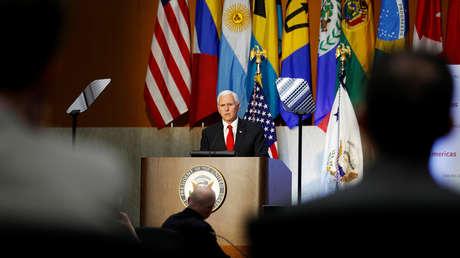 El vicepresidente de EE.UU., Mike Pence, en Washington, el 7 de mayo de 2019
