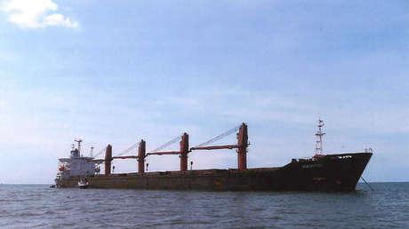 El buque de carga Wise Honest, de bandera norcoreana.