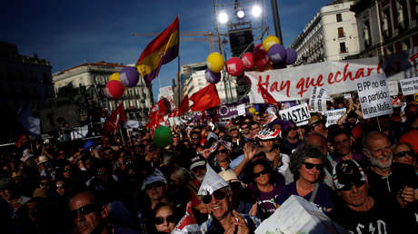 Mitin de Podemos en Madrid, España, 20 de mayo de 2017.