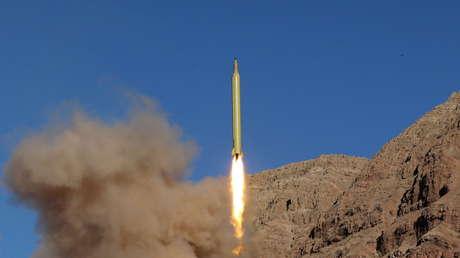 Prueba de un misil balístico iraní el 9 de marzo de 2016.
