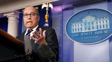 El asesor económico de la Casa Blanca, Larry Kudlow, en Washington, el 22 de enero de 2019