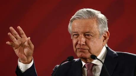 El presidente de México, Andrés Manuel López Obrador, en Palacio Nacional, el 15 de abril de 2019.