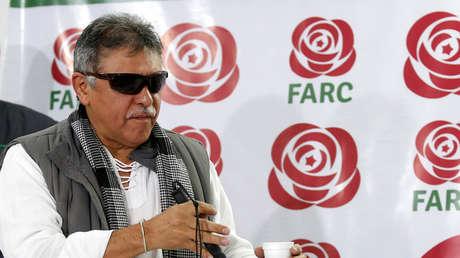 Jesús Santrich  durante una conferencia de prensa en Bogotá, Colombia, 16 de noviembre de 2017.
