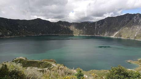 Laguna del volcán Quilotoa, en Ecuador.