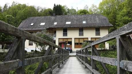 El hotel de la ciudad alemana de Passau donde fueron halladas tres personas muertas con una ballesta, el 13 de mayo de 2019.