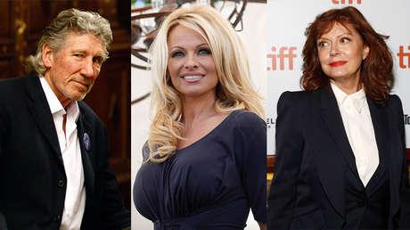 Roger Waters, Pamela Anderson y Susan Sarandon