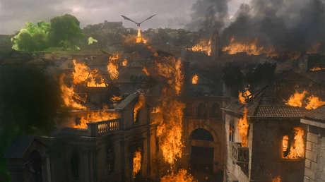 Una escena de Juego de Tronos emitida el 12 de mayo de 2019.