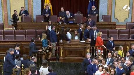 Los diputados votan la composición de la Mesa del Congreso, Madrid, España, 21 de mayo de 2019