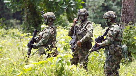 Soldados colombianos en Narino, zona fronteriza con Ecuador, 18 de abril de 2018.