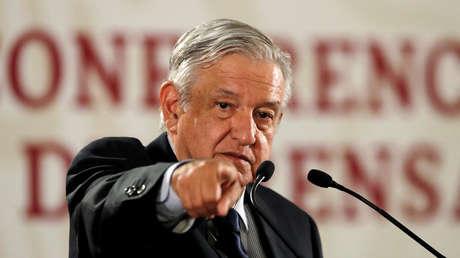 El presidente Andrés Manuel López Obrador en conferencia en Ciudad de México, 21 de mayo de 2019.