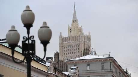 El Ministerio de Asuntos Exteriores de Rusia.
