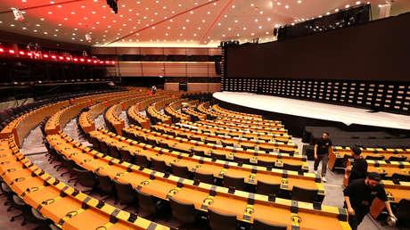 Vista general del hemiciclo del Parlamento Europeo en Bruselas (Bélgica) el 22 de mayo de 2019.