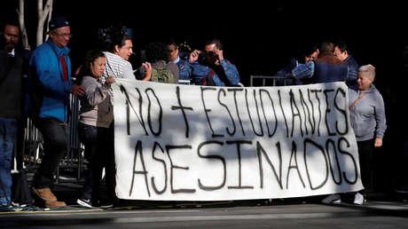 Una manifestación contra el asesintato de estudiantes en la Ciudad de México, 25 de julio de 2018