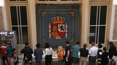 Votaciones en un colegio electoral de Madrid, el domingo 26 de mayo de 2019