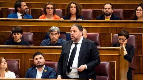 El líder independentista Oriol Junqueras en el Congreso de los Diputados,  el 21 de mayo de 2019.