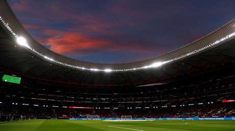 Vista general desde el interior del estadio Wanda Metropolitano. Madrid (España) 27 de marzo de 2018.