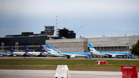 Aviones de la aerolínea estatal Aerolineas Argentinas en el aeropuerto de Buenos Aires. 26 de noviembre del 2018.