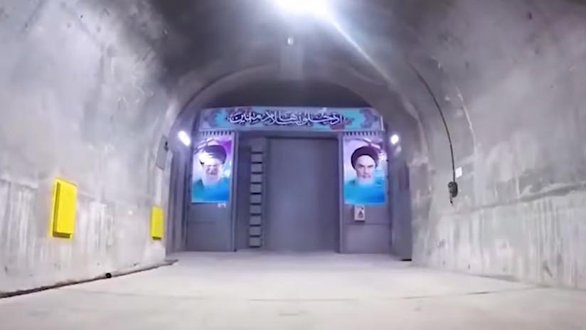 VIDEO: Irán muestra un búnker subterráneo secreto y el lanzamiento de un misil