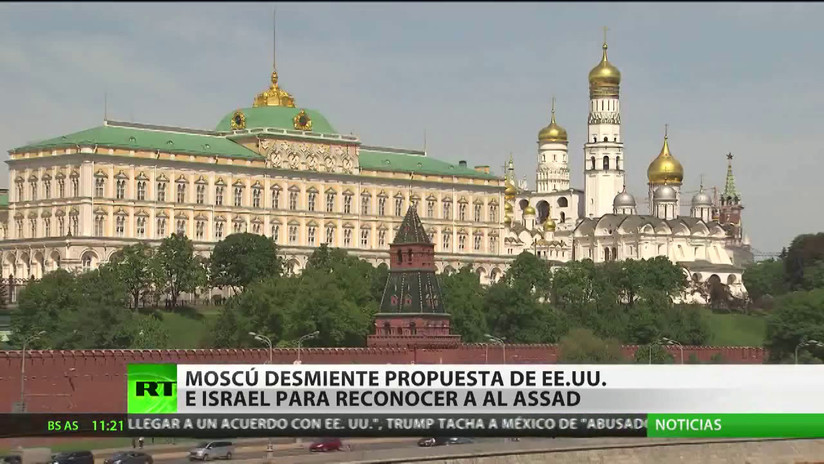 Moscú desmiente la propuesta de EE.UU. e Israel para reconocer a Al Assad