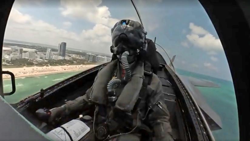 VIDEO: Acrobacia aérea grabada desde la cabina de un caza F-35