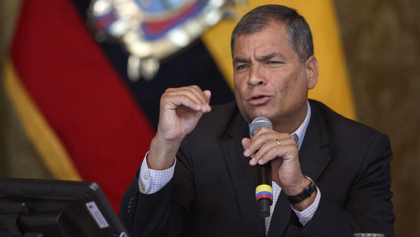 Expresidente Correa denuncia cierre de su página en Facebook