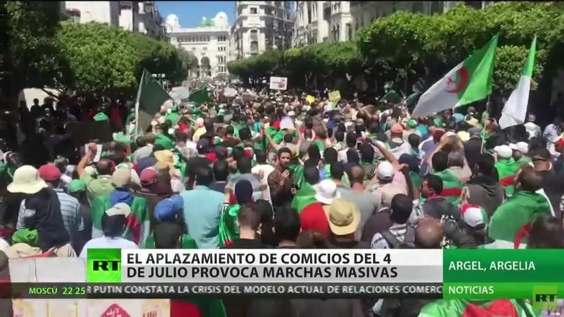 El aplazamiento de los comicios del 4 de julio provoca marchas masivas en Argelia