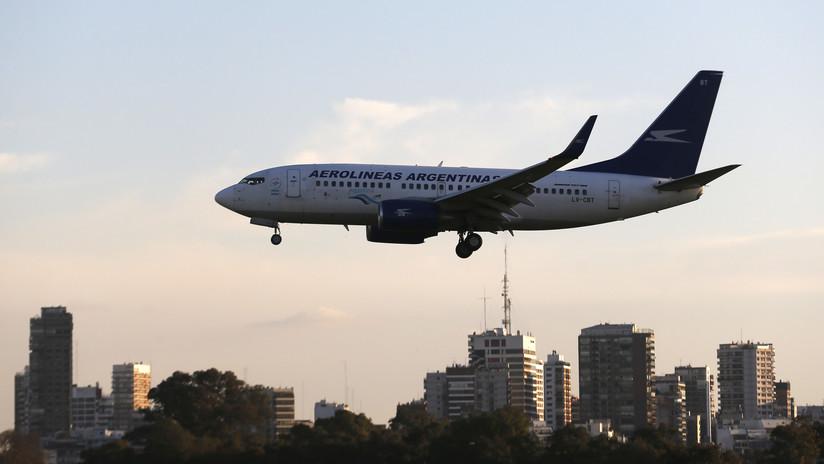 Avión de Aerolíneas Argentinas aterrizó de emergencia en Bogotá, Colombia