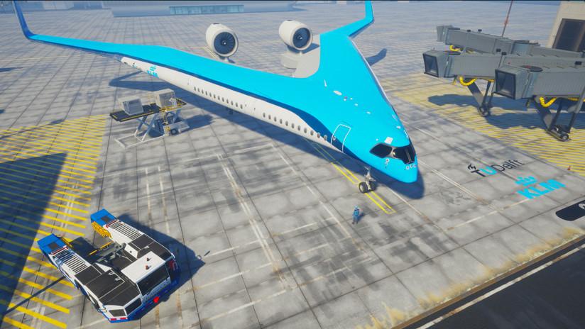Crearán avión futurista con asientos en las alas