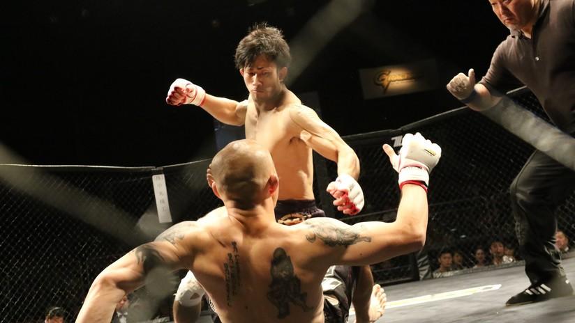 VIDEO: Un luchador de MMA noquea a su gigantesco rival de 160 kilos en apenas 49 segundos