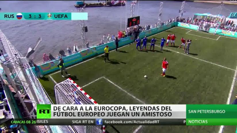 De cara a la Eurocopa, leyendas del fútbol europeo juegan un amistoso en San Petersburgo
