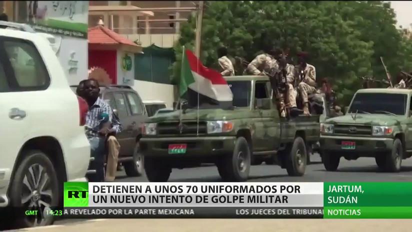 Detienen a unos 70 uniformados por un nuevo intento de golpe militar en Sudán