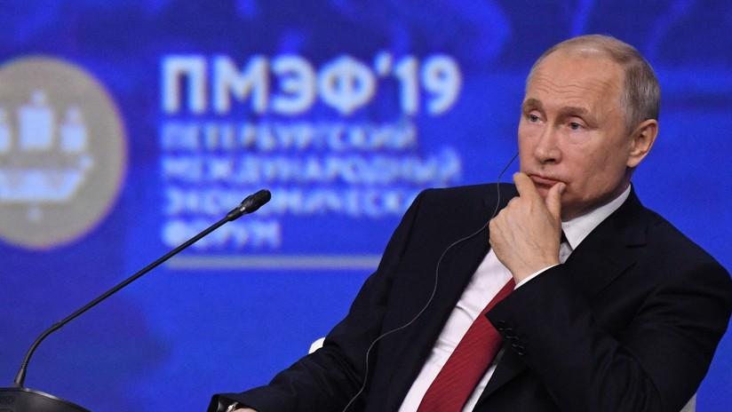 """Putin: """"Las relaciones entre Rusia y EE.UU. están cada vez peor"""""""