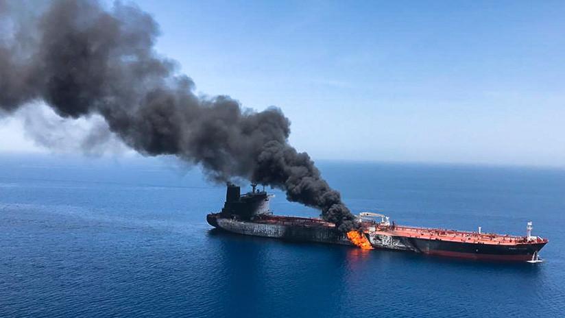 FOTOS: Medios iraníes publican imágenes de los incidentes con dos petroleros en el golfo de Omán
