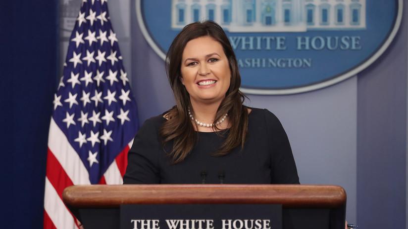 Sarah Huckabee Sanders, portavoz de Trump, abandona la Casa Blanca