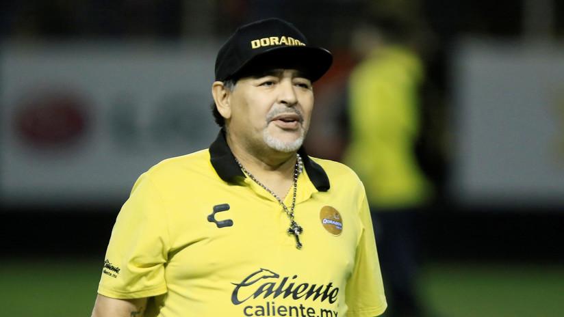 """Diego Maradona deja de ser director técnico de Dorados de Sinaloa por """"consejo médico"""""""