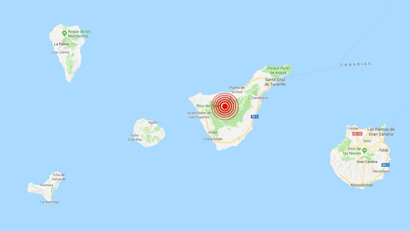 España: Registran en Tenerife más de 500 pequeños sismos en menos de dos horas