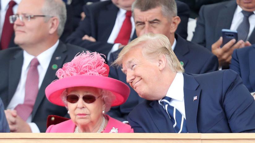 """Trump afirma que la reina Isabel II se divirtió más con él que """"en 25 años"""""""