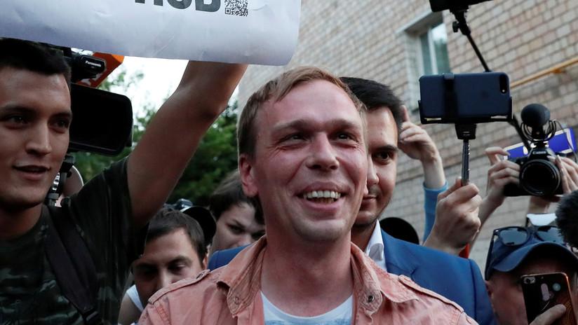 """El periodista Golunov sobre la resonancia causada por su caso: """"La gente no está lista para tolerar tanta injusticia"""""""